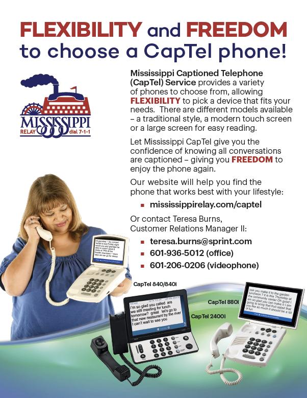Mississippi CapTel Flyer